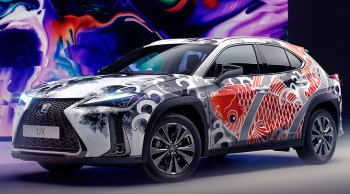 Lexus UX สักลายทั้งคันอย่างคราฟต์ ประเมินราคาไม่ได้แต่หลายล้านบาท