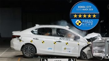 Honda City 2020 คว้า 5 ดาวเต็ม จากการทดสอบการชน Asean NCAP