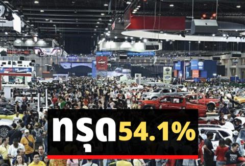 ยอดขายรถยนต์ พฤษภาคม 2563 ทรุดอีก 54.1%