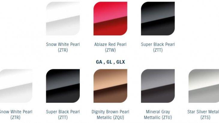 SUZUKI Ciaz มีให้เลือกมากถึง 8 สี