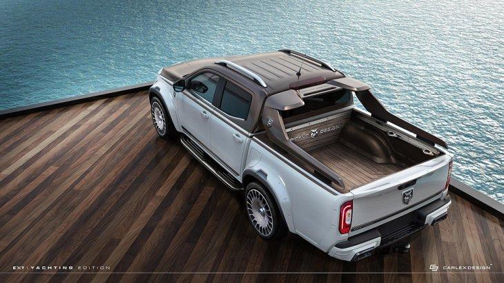 ซึ่ง Carlex Design สำนักแต่งของยุโรปจัดให้หรูหราสมใจได้เลยถ้าพร้อมเปย์ ด้วย Mercedes-Benz X-Class Yachting Edition