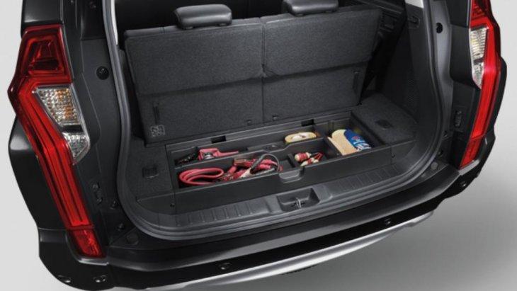 Cargo Floor Box ช่องเก็บของด้านท้ายรถ หลังเบาะนั่งแถวที่ 3 พร้อมฝาปิด
