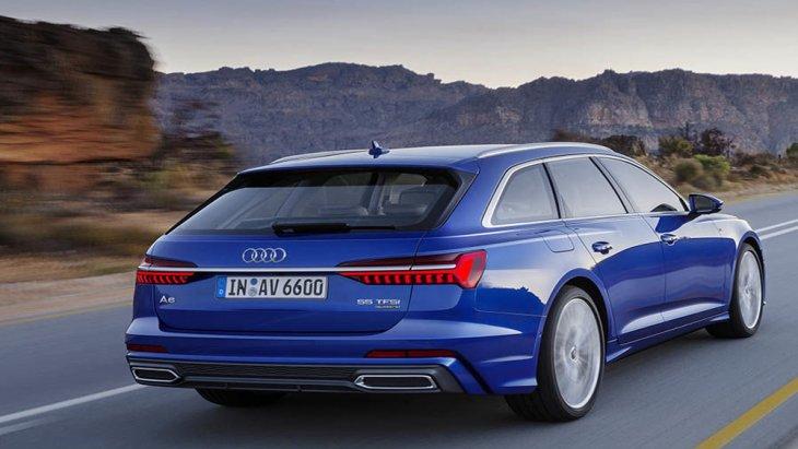 ไฟท้ายได้รับการดีไซน์แบบ OLED แนวยาวยิ่งเสริมให้ Audi A6 Avant รุ่นนี้ดูสวยงามเพิ่มมากขึ้นพร้อมประตูท้ายเปิด-ปิดด้วยไฟฟ้า