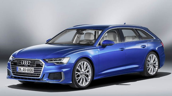 Audi A6 Avant 2018 ติดตั้งไฟหน้าแนวนอนแบบ LED