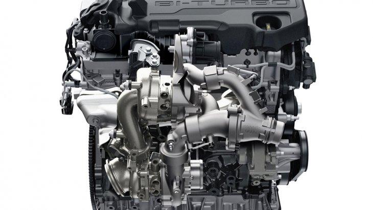 Ford Ranger Raptor มาพร้อมขุมพลังเครื่องยนต์ดีเซลเทอร์โบคู่ Bi-Turbo ขนาด 2.0 ลิตร ให้กำลังสูงสุด 213 แรงม้า แรงบิดสูงสุด 500 นิวตัน-เมตร ส่งกำลังด้วยระบบเกียร์อัตโนมัติ 10 สปีด