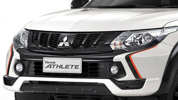 Mitsubishi Triton Athlete 2018  เพิ่มความโดดเด่นด้วยกระจังหน้าแบบ 4 ซี่ สีดำเข้มพร้อมชุดตกแต่งกันชนหน้าแบบ (Front Bumper Garnish)