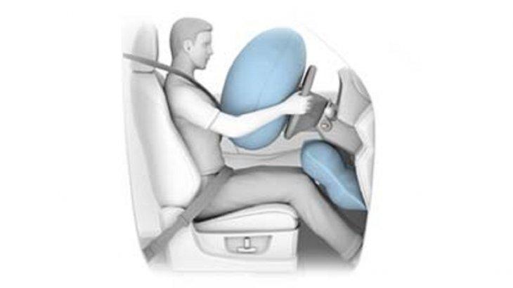 ถุงลมนิรภัยบริเวณหัวเข่าสำหรับผู้ขับขี่ (Driver Knee Airbag) โดยทำงานร่วมกับถุงลมนิรภัย SRS และเข็มขัดนิรภัย