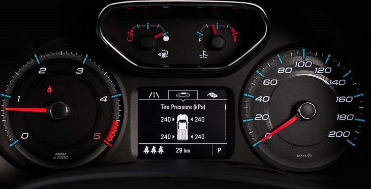 ระบบตรวจวัด และแจ้งเตือนแรงดันลมยาง (Tire Pressure Measuring System) โดยจะตรวจสอบแรงดันลมยางทั้ง 4 ล้ออยู่ตลอดเวลา