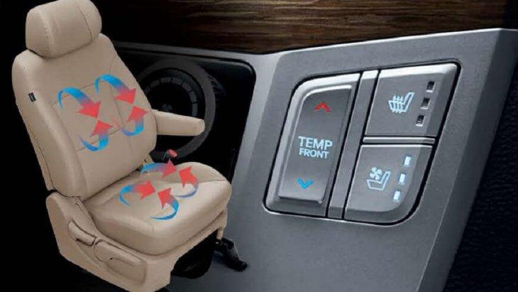 เบาะนั่งผู้ขับขี่สามารถปรับอุณหภูมิได้ถึง 3 ระดับ