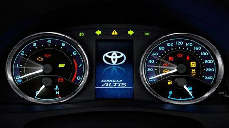 จอแสดงผลข้อมูลการขับขี่ MID แบบสี พร้อมมาตรวัดเรืองแสงแบบ Optitron แสงผลการขับขี่แบบประหยัด Eco Meter