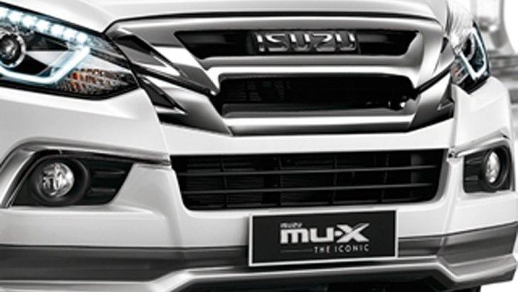 Isuzu MU-X  The Iconic 2018 หยุดทุกสายตากับดีไซน์ภายนอกสุดสปอร์ตพร้อมเส้นสายที่ถูกรังสรรให้มีความปราดเปรียวมากยิ่งขึ้นโดดเด่นด้วยสเกิร์ตแต่งด้านหน้าสีเทา-เมทัลลิก