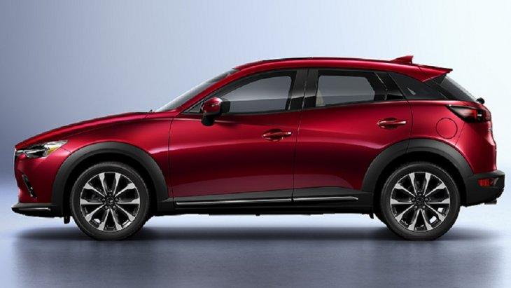 Mazda CX-3 Minorchange กาบข้าง ปรับตำแหน่งเส้นแถบโครเมี่ยม
