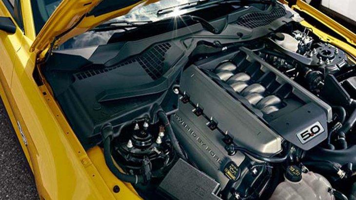 เครื่องยนต์ V8 ขนาด 5 ลิตร จัดเป็นเครื่องยนต์ที่สามารถสร้างความเร็วได้สูงสุดของฟอร์ดด้วยทวินคลัตช์ รวมถึงฟลายวีลชุดใหม่ เสริมด้วยการติดตั้งระบบหัวฉีดไดเรคอินเจคชั่น และ ระบบเชื้อเพลิงที่ช่องไอดี