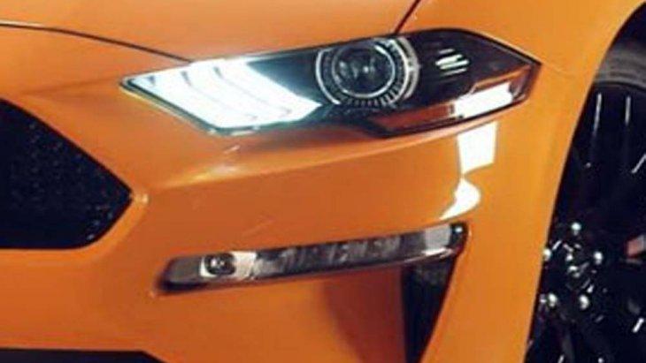 Ford Mustang 2018 ได้รับการติดตั้งไฟหน้าแบบ LED พร้อมไฟตัดหมอกบริเวณด้านหน้า