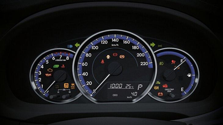 จอแสดงผลข้อมูลการขับขี่แบบ MID พร้อมมาตรวัดแบบเรืองแสง และ ไฟแสดงการขับขี่แบบประหยัด Eco Meter