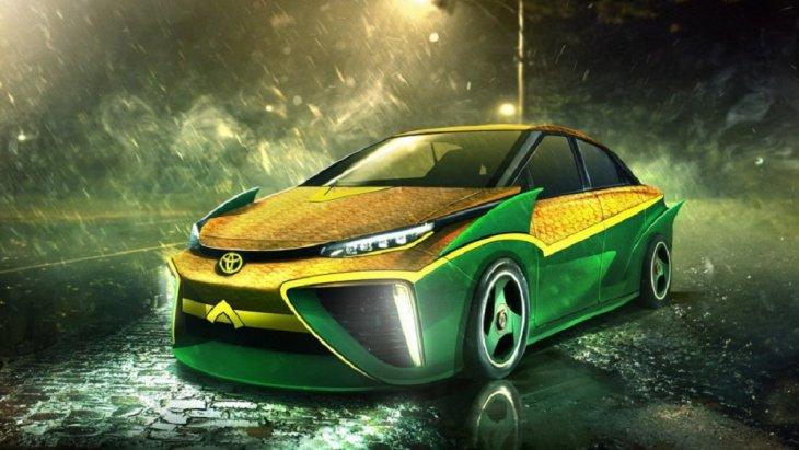 Toyota Mirai กับความเท่สำหรับ Aquaman กับสมรรถนะที่ลงตัวเหมาะสมสามารถขับในน้ำได้ สีสันที่ใช่สุดๆ