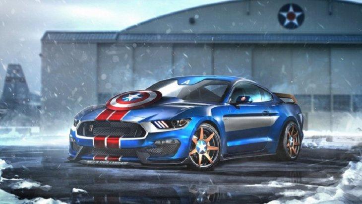 คงไม่มีอะไรลงตัวเท่ากับ Ford Mustang กับความแรงของมาศึกที่คู่ควรกับ Caption America