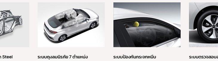ระบบความปลอดภัยของ HYUNDAI IONIQ Electric