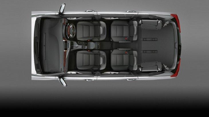 นั่งแถวที่ 3  ปรับได้แบบ Rear Space เพื่อรองรับสัมภาระที่มีขนาดหลากหลาย