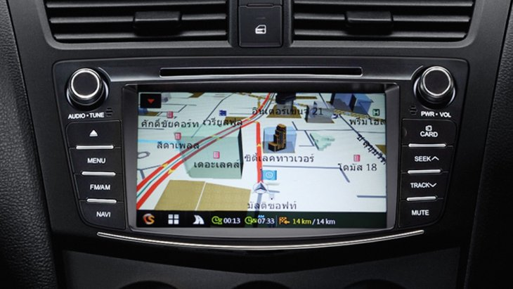 Mazda BT-50 PRO THUNDER  มาพร้อมเครื่องเล่น DVD พร้อมระบบนำทาง Navigator