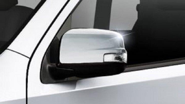 กระจกข้างโครเมี่ยมใหม่พร้อมไฟเลี้ยวควบคุมด้วยระบบอิเล็กทรอนิกส์