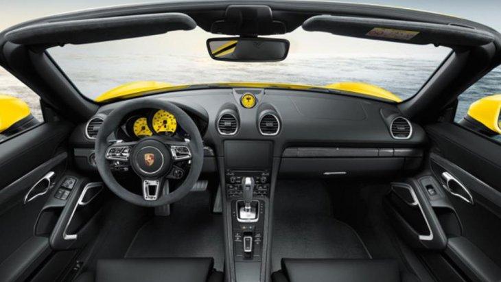 ตัวอย่างดีไซน์ภายในของ Porsche Cayman ในรุ่นก่อน