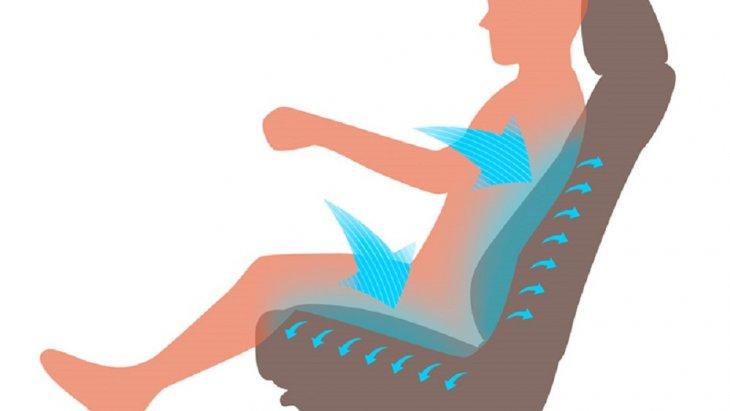 เบาะนั่งด้านหน้ามีระบบนำความร้อนและความชื้นออกจากร่างกายผู้ขับขี่ เพื่อให้ผู้ขับขี่รู้สึกสบายตัวในการขับขี่