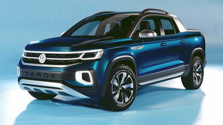 "Volkswagen Tarok   เป็นการนำแนวคิดของ ""รถเอสยูวียุคดิจิตอลที่มีการเชื่อมต่อขั้นสูง"" และ ""รถกระบะขนาดคอมแพ็กต์ที่ชาญฉลาด"""
