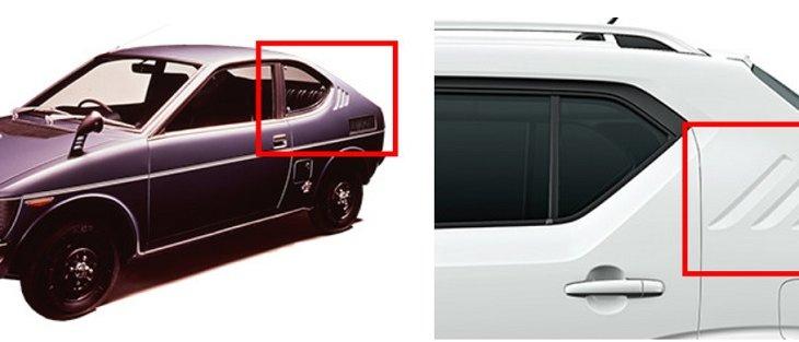ช่องเสา C (Front Coupe) ของ ALL NEW SUZUKI IGNIS มีลักษณะโดดเด่นซึ่งได้รับอิทธิพลมาจาก Fronte Coupe รถสปอร์ตขนาดเล็กรุ่นแรกของญี่ปุ่น
