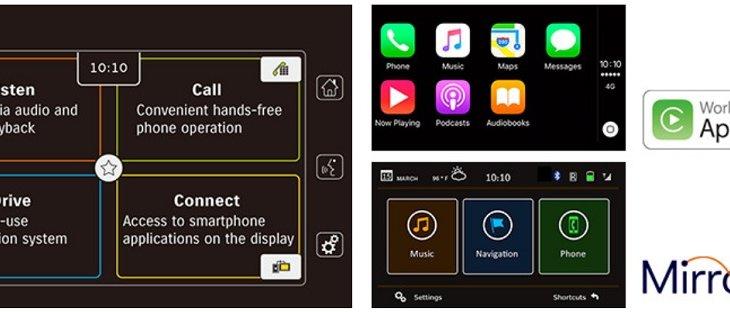 SUZUKI SX4 S- CROSS มาพร้อมกับระบบการเชื่อมต่อ Smartphone ที่ทำงานร่วมกับ Apple CarPlay และ MirrorLink  Apple CarPlay
