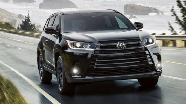 กระจังหน้าดีไซน์ใหม่ ใหญ่ขึ้นทำให้ TOYOTA  HIGHLANDA 2019 ดูเป็นรถ SUV ที่ทรงพลัง