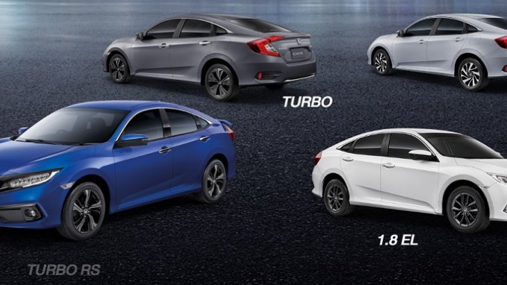 Honda Civic 2019 New Minor Changes มีให้เลือกทั้งหมด 4 รุ่นย่อย