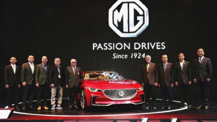 """คณะผู้จัดงาน """"Motor Expo 2018 ครั้งที่ 35"""" และคณะผู้บริหาร MG"""