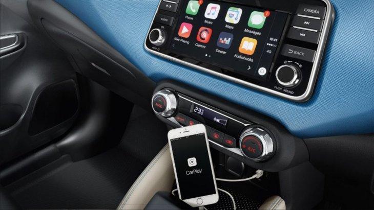 หน้าจอ Touchscreen  7 นิ้ว พร้อมเช่อมต่อฟังก์ชั่นต่างๆด้วย Nissan Conect และ Apple Carplay