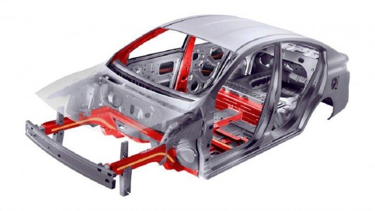 โครงสร้างของ Nissan Almera 2018-2019  เป็นแบบ ZONE BODY CONCEPT ดีไซน์พิเศษให้รองรับและลดแรงกระแทกจากการชนเพื่อป้องกัน และช่วยลดอาการบาดเจ็บของผู้โดยสารอันเกิดจากการชนด้านข้าง