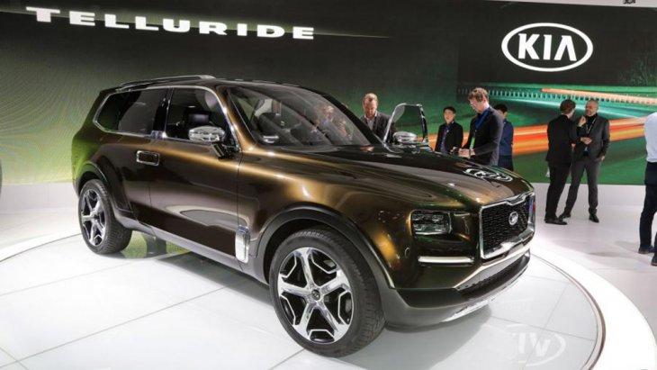KIA Telluride  ในโฉมแบบ SUV หรู ที่งาน ดีทรอยด์ ออโต้โชว์