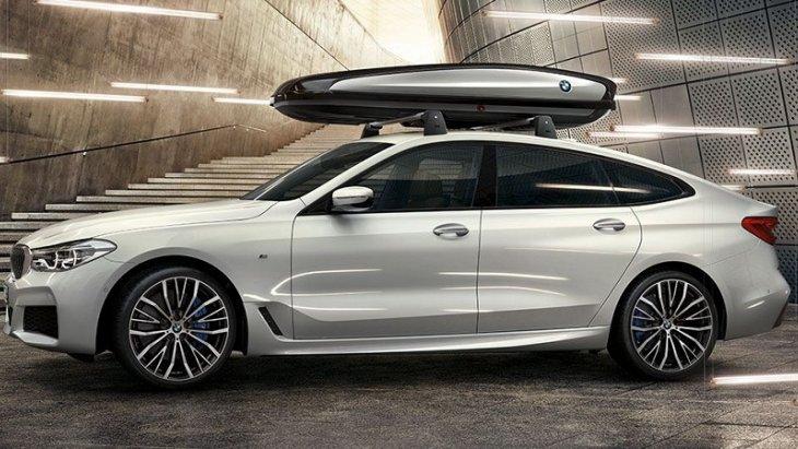 BMW 6 Series Gran Turismo มาพร้อมกับอุปกรณ์เสริมแร็คหลังคาเพื่อเพิ่มพื้นที่ในการขนสัมภาระ