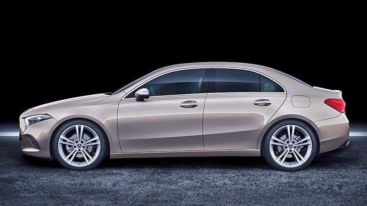 ตัวถังของ All-new Mercedes-Benz A-Class Sedan 2019 จะมีความยาว 4,549 มม. กว้าง 1,796 มม. สูง 1,446 มม. ฐานล้อยาว 2,729 มม.