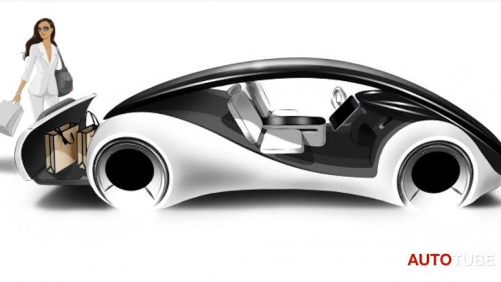 ภาพโฆษณาที่โชว์ความล้ำยุคในรถยนต์ Project Titan ของ Apple