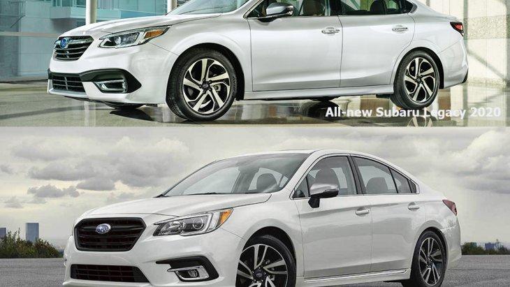 เปลี่ยนเหมือนปรับโฉม All-new Subaru Legacy 2020 ด้วยโปรไฟล์ด้านข้างที่ช่วยให้ตัวรถดูหนาขึ้น ส่วนทรีตเมนต์เสา C ปรับให้ลื่นไหลต่อเนื่องมากกว่าโฉมก่อนเล็กน้อย บังโคลนหน้ากว้างขึ้นเพื่อพรีเซนต์ล้อรถ กระจังหน้าหกเหลี่ยมแบบไร้กรอบ โชว์แนวร่องตะแกรงลอยตัว