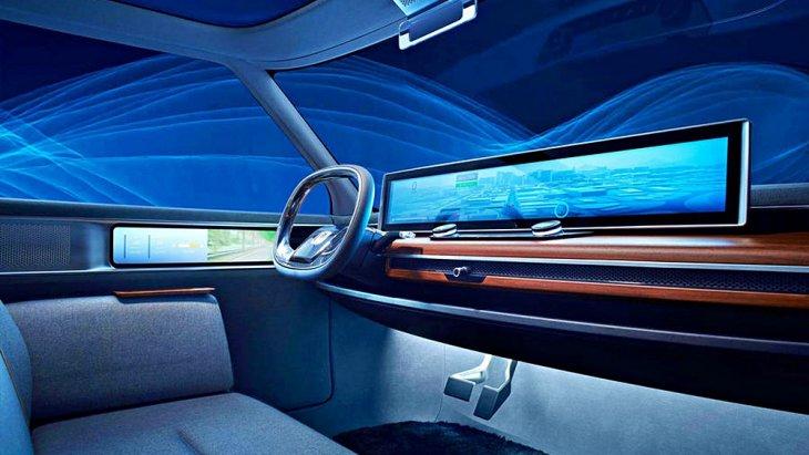 ภาพคอนโซล Honda Urban EV ของรถโปรโตไทป์ก่อนขึ้นสายการผลิตจริง