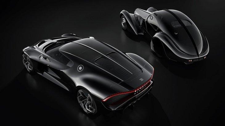 Bugatti La Voiture Noire รุ่นปัจจุบัน  กับ Bugatti Type 57 SC Atlantic ในอดีต