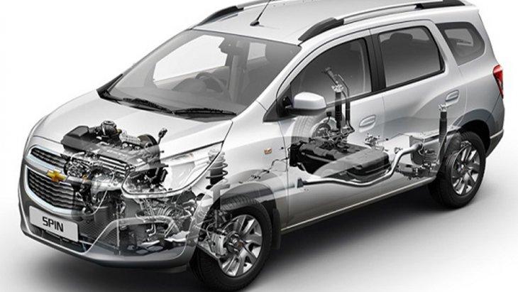 Chevrolet Spin 2019 ได้รับการติดตั้งระบบช่วงล่างอิสระแบบแม็คเฟอร์สันสตรัท
