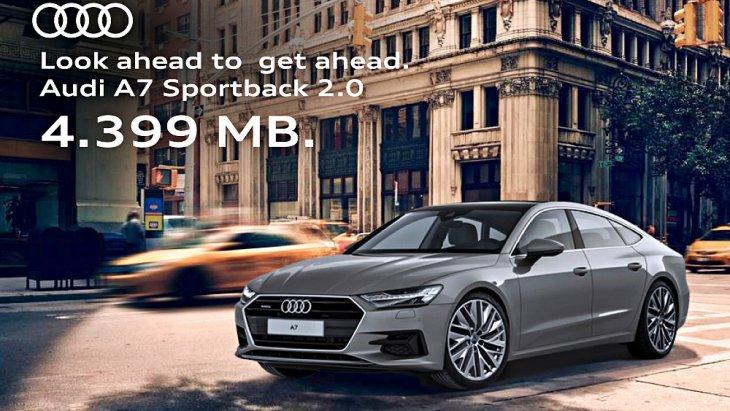 Audi A7 Sportback 45 TFSI Quattro 2019  เปิดราคาจำหน่ายในไทย 4,399,000 บาท โดยนำเข้าจากประเทศผู้ผลิตทั้งคัน