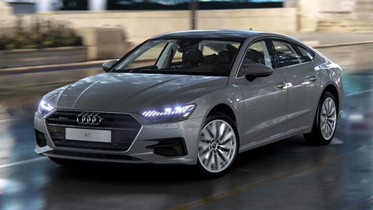 All New Audi A7 Sportback 45 TFSI quattro ได้รับการดีไซน์เป็นลักษณะรถยนต์สปอร์ต คูเป้ 5 ประตู