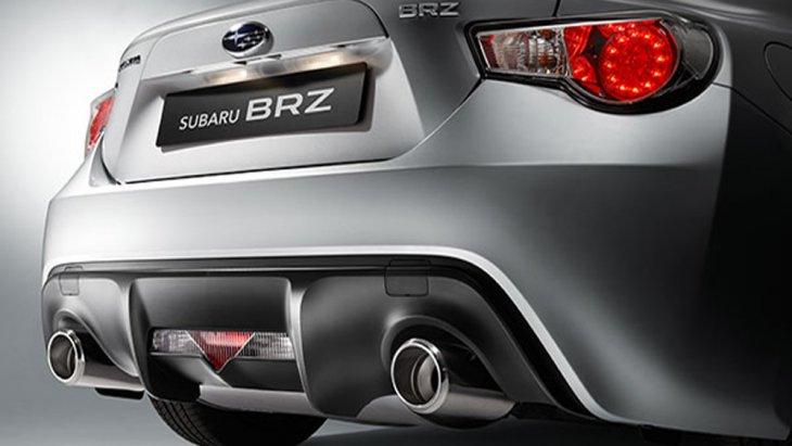 Subaru BRZ ได้รับการติดตั้งดิฟฟิวเซอร์ด้านหลังพร้อมท่อไอเสียแบบคู่