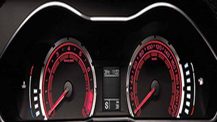 MG 6 ติดตั้งหน้าจอแสดงผลการขับขี่แบบ MID ที่สามารถปรับสีได้ตามโหมดการขับขี่ เช่น หน้าจอแดชบอร์ดจะเปลี่ยนเป็นสีแดงเมื่อผู้ขับขี่เลือกใช้โหมดสปอร์ต (S)
