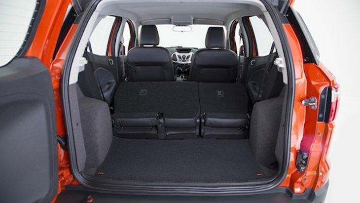 Ford Ecosport เพิ่มพื้นที่จัดเก็บสัมภาระด้านหลังให้มีขนาดที่ใหญ่มากยิ่งขึ้นพร้อมเบาะนั่งที่สามารถปรับพับได้