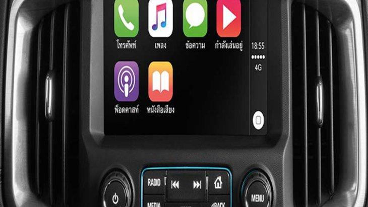 Chevrolet Trailblazer 2019 ให้ความบันเทิงผ่านหน้าจอระบบสัมผัสขนาด 8 นิ้ว รองรับการเชื่อมต่อ Apple Carplay รวมถึงรองรับระบบนำทาง Navigation System พร้อมลำโพง 7 ตำแหน่ง