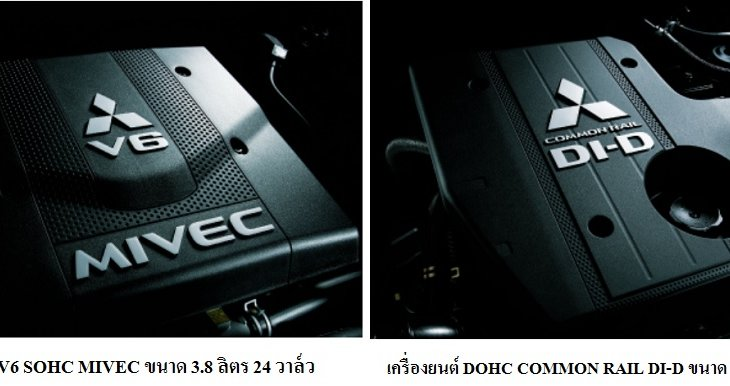 MITSUBISHI PAJERO MONTERO 2019 มาพร้อมกับเครื่องยนต์ V6 SOHC MIVEC ขนาด 3.8 ลิตร 24 วาล์ว และเครื่องยนต์ DOHC COMMON RAIL DI-D ขนาด 3.2 ลิตร 16 วาล์ว